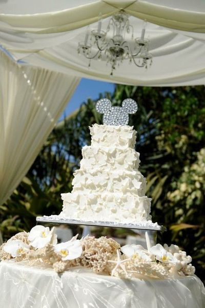 Disney Wedding Cake with some TLM inspired decor / wedding cakes