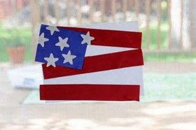 construction paper American flag
