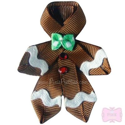 Gingerbread hairbow hair tips juxtapost for Cub scout ornament craft
