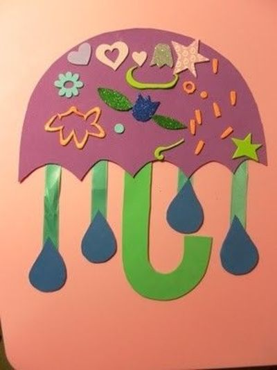 april showers bring may flowers umbrella craft for spring unit use