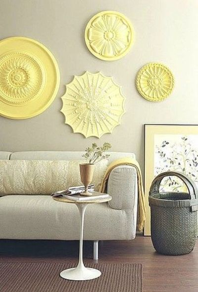 My favorite color scheme, grey + yellow, and such fun easy w ...
