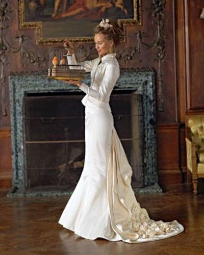 Stunning Victorian Wedding Dress. Cream Color Compliments