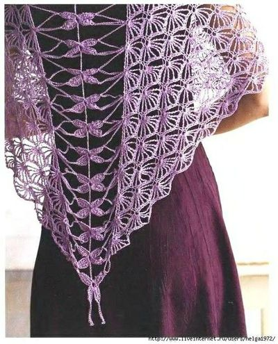Crochet Dragonfly Shawl Pattern Crochet Ideas And Tips Juxtapost
