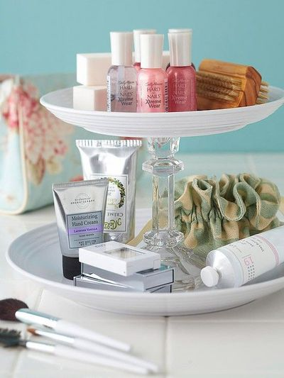 A Diy Bathroom Vanity Organizer Made From Re Purposed