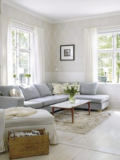Gray couch taupe walls what color carpet for the home - Deco salon taupe beige ...