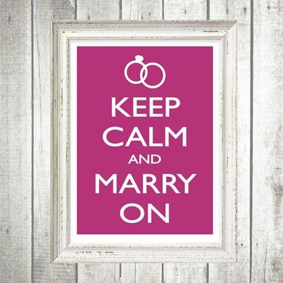 Keep Calm and Marry On Free Poster Template