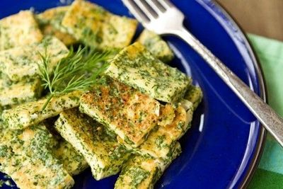 lemon dill tofu from Oh She Glows