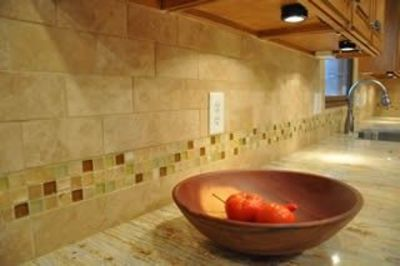tile backsplash ideas this would match the travertine
