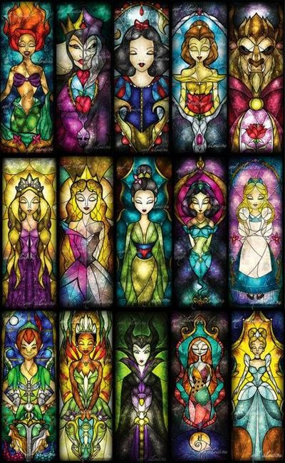Stained Glass Disney images