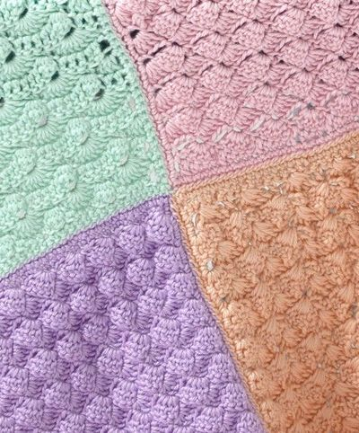 Crochet Stitches Sampler : Crochet Different stitches Sampler Squares Baby Blanket... / crochet ...