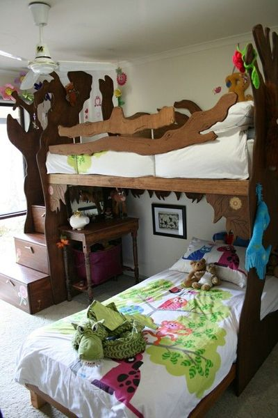 Cool Treehouse Bunk Bed By Samantha Birch For The Bedroom