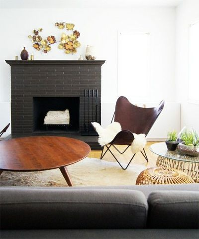 Black Brick Fireplace For The Home Juxtapost