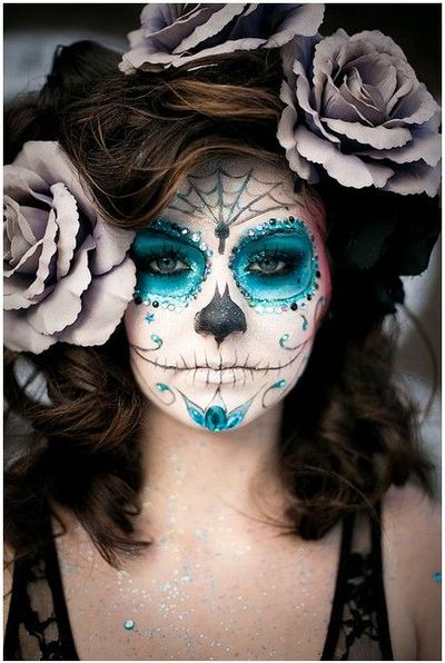 Maquillaje de carnaval, calavera dulce mejicana / make up tips ...