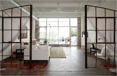 Old Window Frames As Room Dividers For The Home Juxtapost