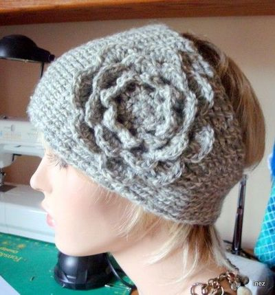 Crochet Wide Headband With Flower Free Pattern : adorable! free crochet pattern, #ear warmer #headband ...