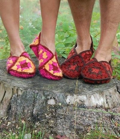 CROCHET GRANNY PATTERN SLIPPER SQUARE - Crochet — Learn How to