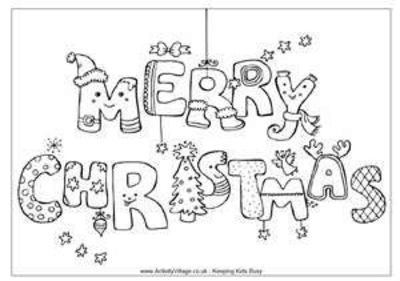 Christmas Coloring Pages / Preschool items - Juxtapost