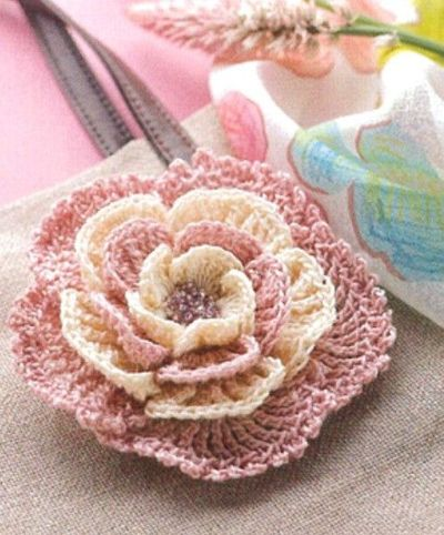 Beautiful and Delicate Crochet Flower Brooch . . . with free ...