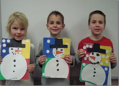 Color block snowmen