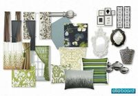 #blue #green #silver accents for a living room