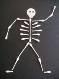 Halloween skeleton I made these last year! The kids loved it!