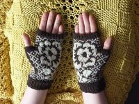 Pressed Flower Mitts