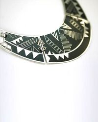Design Glut - Tribe necklace. Enamel-filled stainless steel. $100