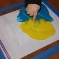 """less mess! Great to do with the book """"Mouse Paint""""!!!"""