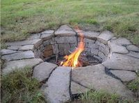 Dug out fire pit