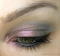 Light Grey with Pink and Shimmer #makeup