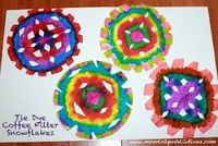 Kids can make unique tie dye effect snowflakes w/bingo daubers/do-a-dot markers & coffee filters! Gorgeous!