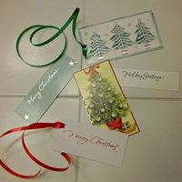 Christmas Gift Tags - I never buy them. Use last year's Christmas cards received from friends and family. Cut out cute card graphics or words, punch a hole, attach ribbon and sign the front (or back if there is no room on the front.)