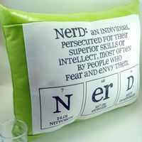 Nerd pillow on etsy