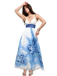 Ever Pretty Women's Blossom Sequin Long Dress: Clothing