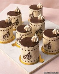 Modern Wedding Cakes Miniature Calligraphed Wedding Cakes