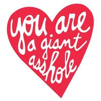 A valentine for my ex. repostned, I don't want trouble from all of mine :)