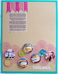 Cool masking with circle stamps by Kelly Purkey