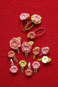 crochet flowers for hair barrettes