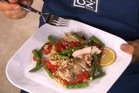 lemon chicken with asparagus.