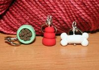 These are my favourite knitting stitch markers. Gotta buy more, or knit less!