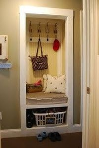 So cute!! making use out of closets, other than the normal coat storage :-)