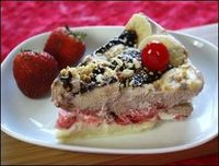 Low-Fat Banana Split Pie.