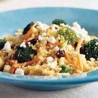 Middle Eastern: Curried Couscous with Broccoli and Feta