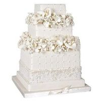 Quilted Flower Box Wedding Cake