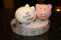 """To help potty train your kiddos... Reward them for potty success with tickets and a """"Potty Piggy"""" and then let them take their reward tickets to the general store for some shopping fun! Works like a charm!"""