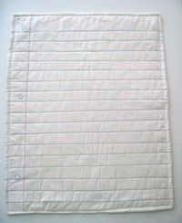 Baby quilt in the style of a piece of paper. BRILLIAnT (and simple) $30