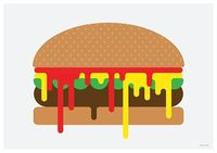 Messy Burger by James Joyce for The Burgermat Show
