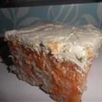 "Creamy Orange Cake By: Bea ""Cool and refreshing like the orange cream frozen treat. Great for picnics, travels well."""