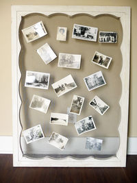 old screen to hang pictures