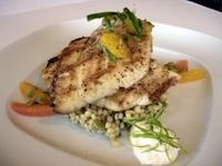 Grilled Gulf Fish with Pumpkin Seed Couscous and LA Citrus Salad